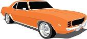 Orange Camaro 1969
