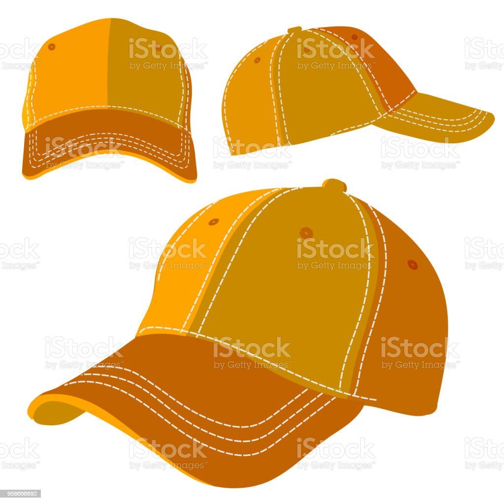 Orange cap vector art illustration
