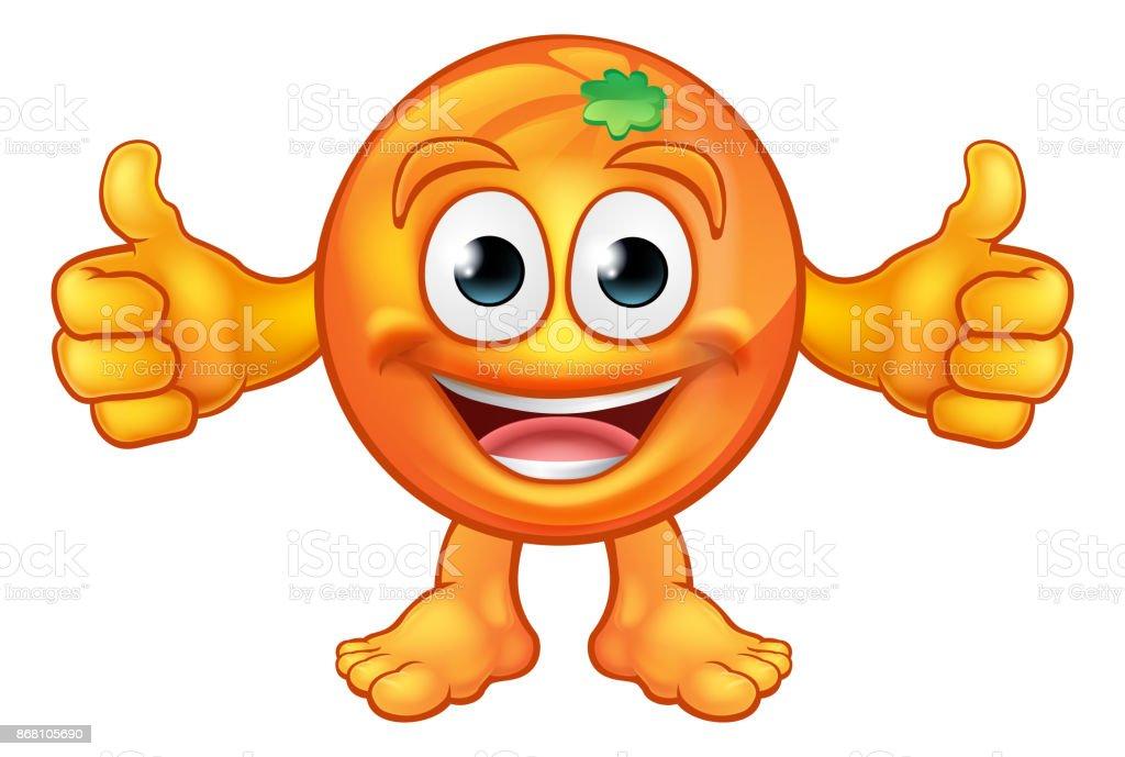 Dibujos Animados Texto Naranja: Ilustración De Frutas De Color Naranja Dibujos Animados