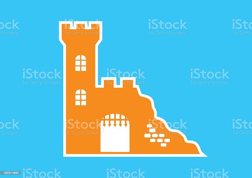 orange castle icon royalty free orange castle icon stock vector art more images