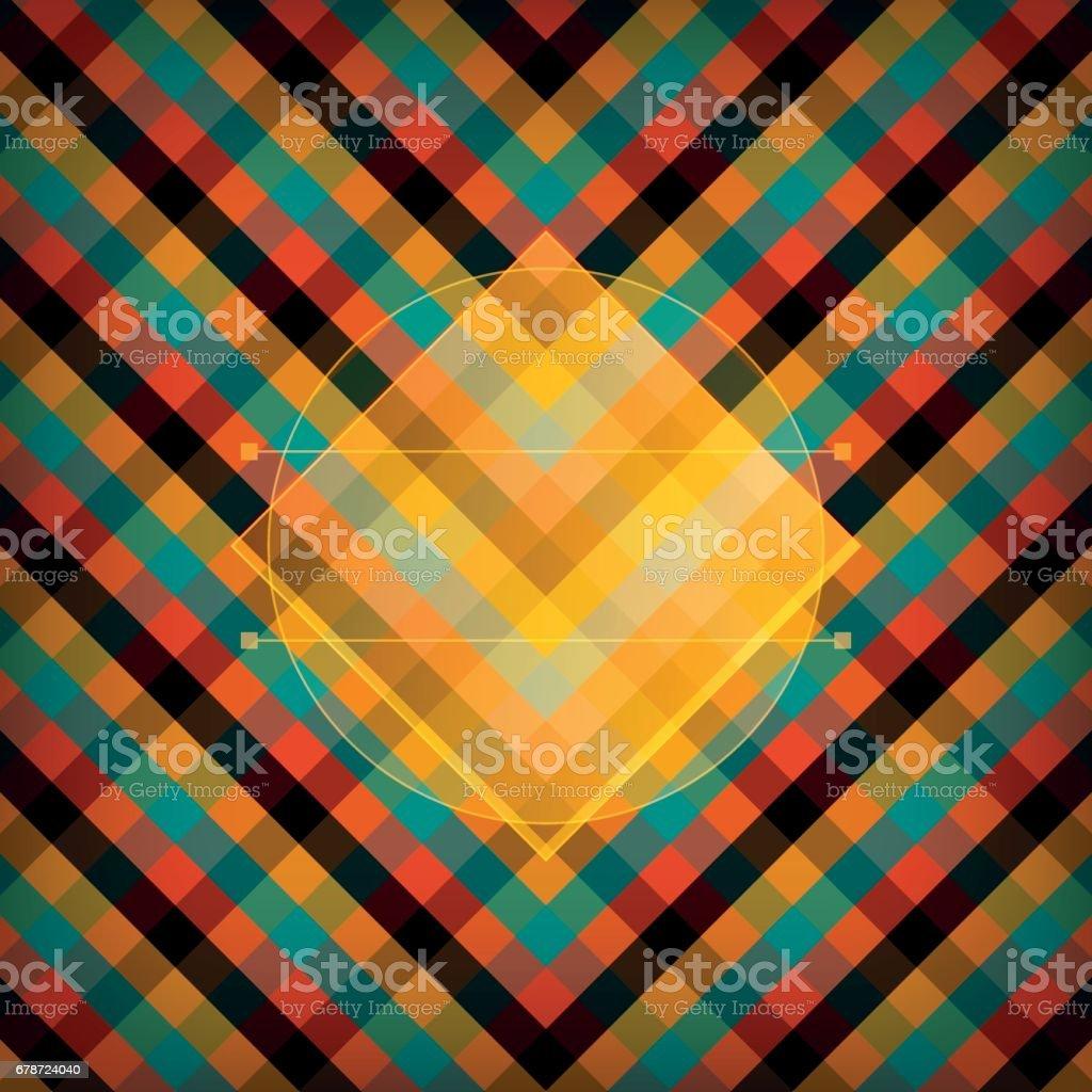 Orange vérifié Vector Pattern orange vérifié vector pattern – cliparts vectoriels et plus d'images de abstrait libre de droits