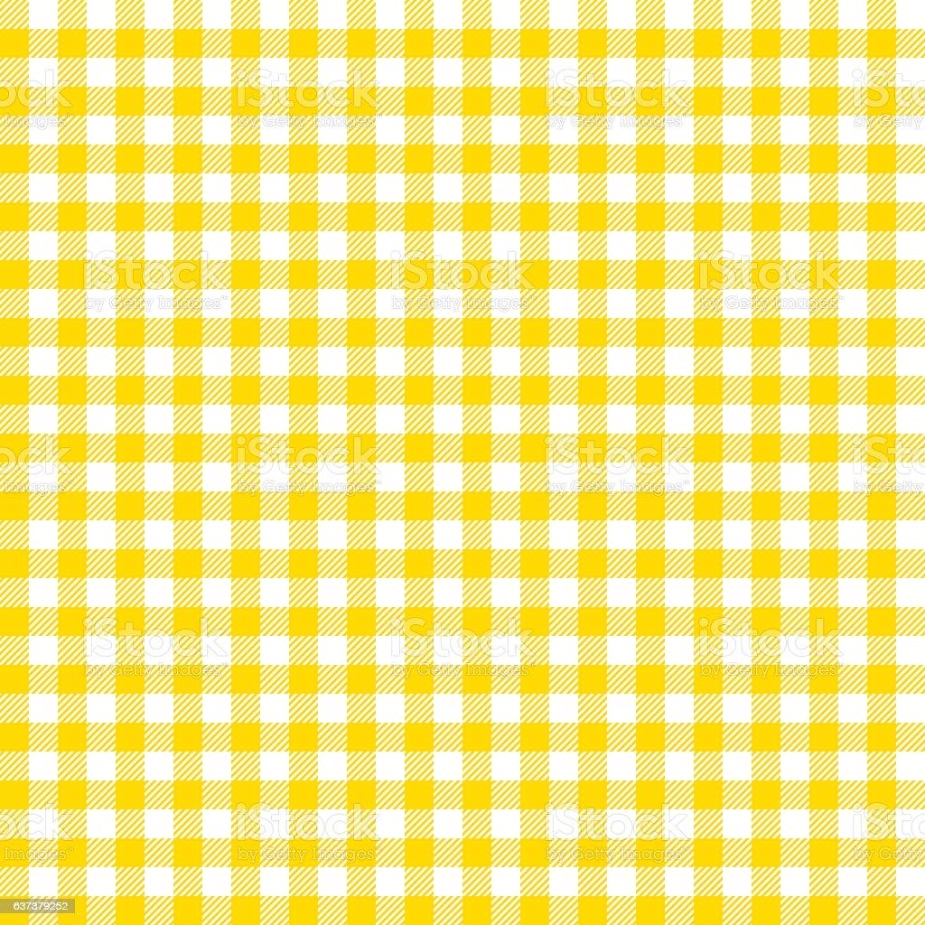 Orange checkered tablecloths patterns. vector art illustration
