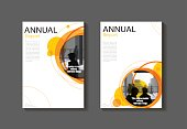 istock Orange Circle abstract cover modern  cover book Brochure template, design, annual report, magazine and flyer layout Vector a4 826327594