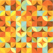 Orange Circle Mosaic Pattern