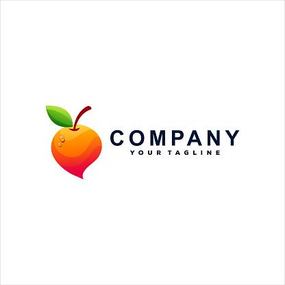 orange color gradient logo design