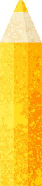 orange coloring pencil graphic icon vector art illustration