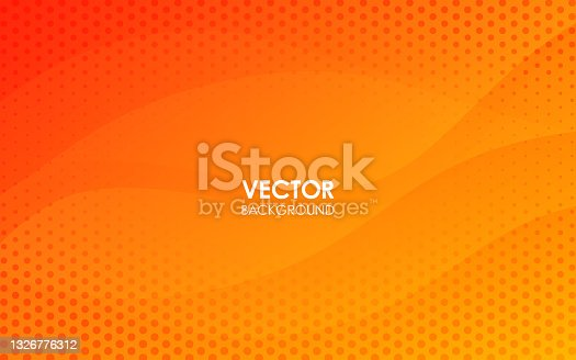 istock Orange curve background with dots. Vector illustration. 1326776312