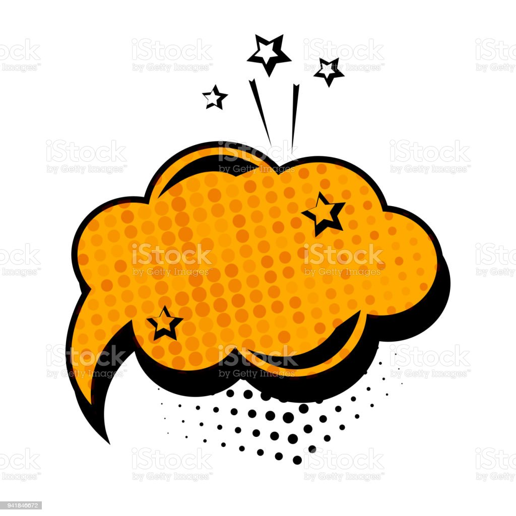 orange dialog box banner set colored empty cloud with dots and