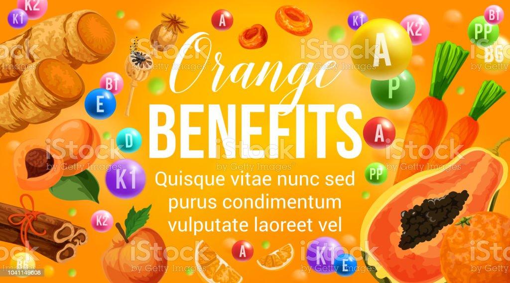 Orange Diat Obst Und Gemuse Gesund Vitamin Stock Vektor Art Und Mehr