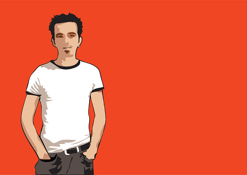 Orange dude (vector)