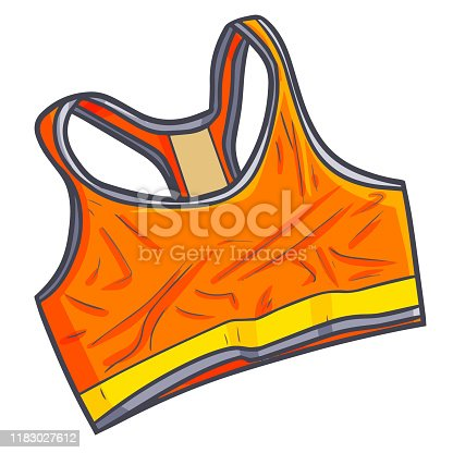 Funny and cool orange fitness mini shirt for woman