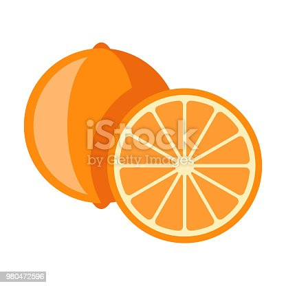 A flat design styled fruit icon with a long side shadow. Color swatches are global so it's easy to edit and change the colors. File is built in the CMYK color space for optimal printing.