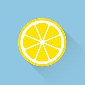 Orange flat icon