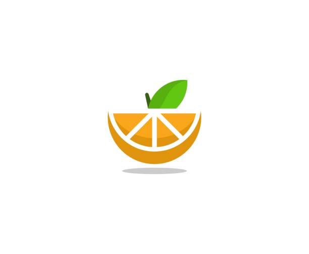 Orange-Frucht-Logo – Vektorgrafik