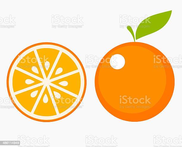 Stück Orange Fruit Stock Vektor Art und mehr Bilder von Abstrakt