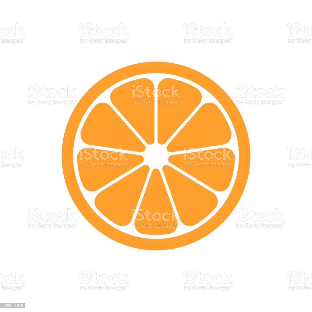 Ilustración de Fruta Naranja Vector Icono De Estilo Plano ...