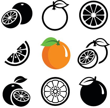 Orange Fruit - Immagini vettoriali stock e altre immagini di Agrume