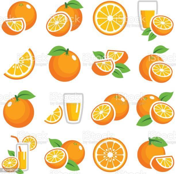 Orange Fruit Stock Vektor Art und mehr Bilder von Abnehmen