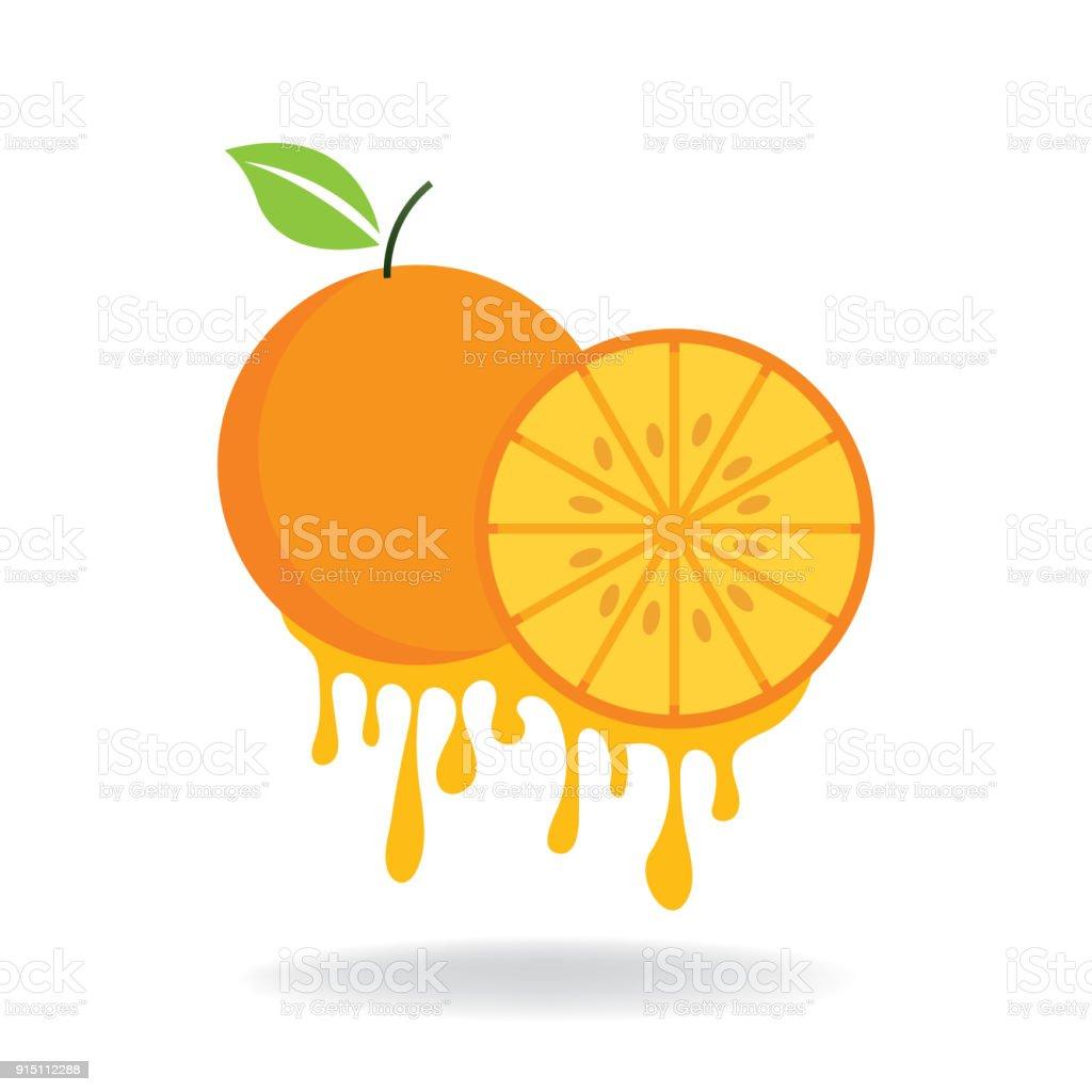 orange fruit vector art illustration