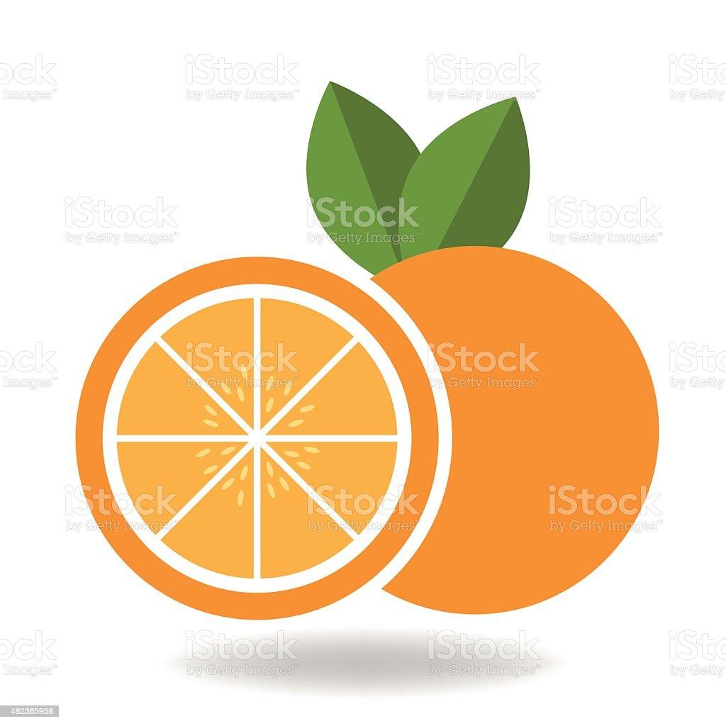 Orange fruit vector vector art illustration