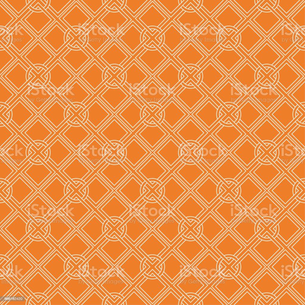 Orange geometriska design. Seamless mönster - Royaltyfri Abstrakt vektorgrafik