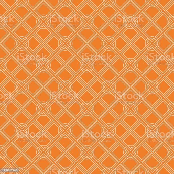 Orange Geometriska Design Seamless Mönster-vektorgrafik och fler bilder på Abstrakt
