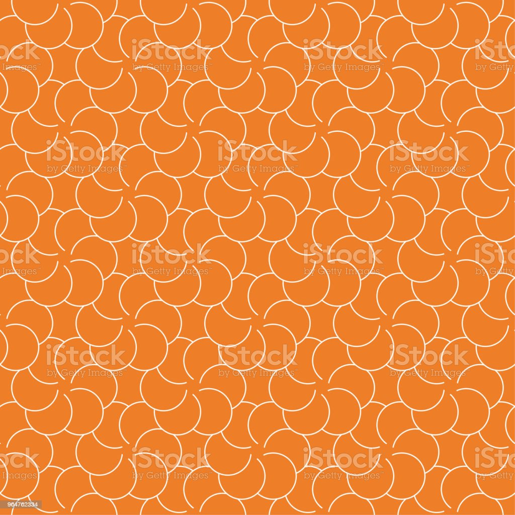 Orange geometric ornament. Seamless pattern royalty-free orange geometric ornament seamless pattern stock illustration - download image now