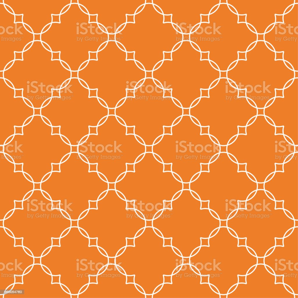 Orange geometric ornament. Seamless pattern orange geometric ornament seamless pattern - stockowe grafiki wektorowe i więcej obrazów abstrakcja royalty-free