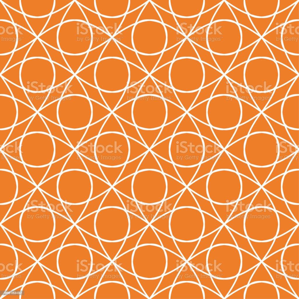 Orange geometriska prydnad. Seamless mönster - Royaltyfri Abstrakt vektorgrafik