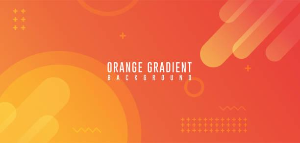bildbanksillustrationer, clip art samt tecknat material och ikoner med orange gradient abstrakta bakgrunder, modern abstrakt bakgrund - orange bakgrund