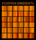 Orange gradients for Halloween banners, flyers, posters background or Thanksgiving holiday. Pumpkin color gradients for your autumn design