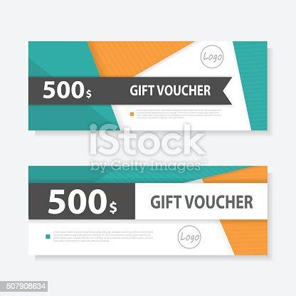 Orange Green Gift Voucher Template Pattern Gift Voucher Certificate ...