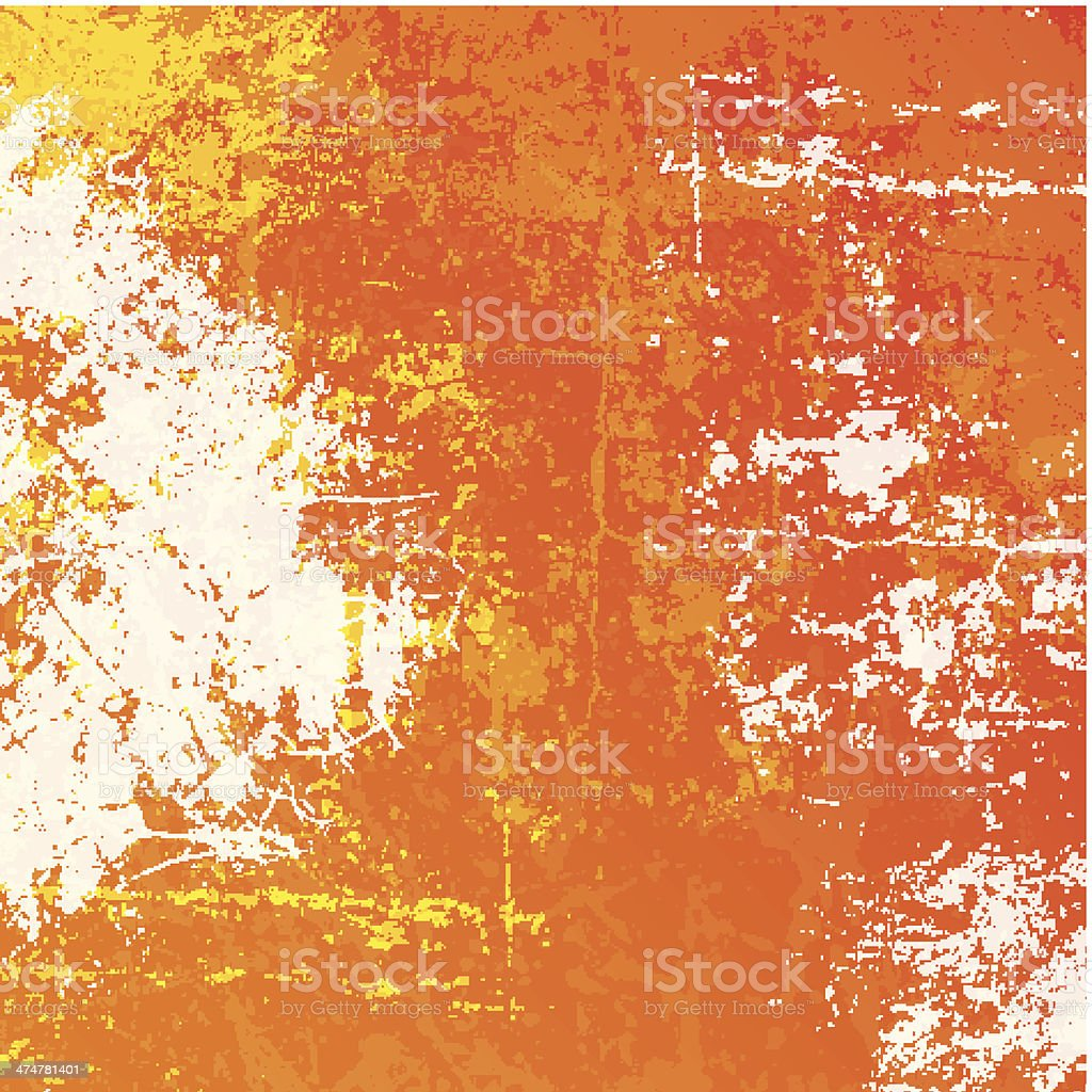 Orange grunge background vector art illustration