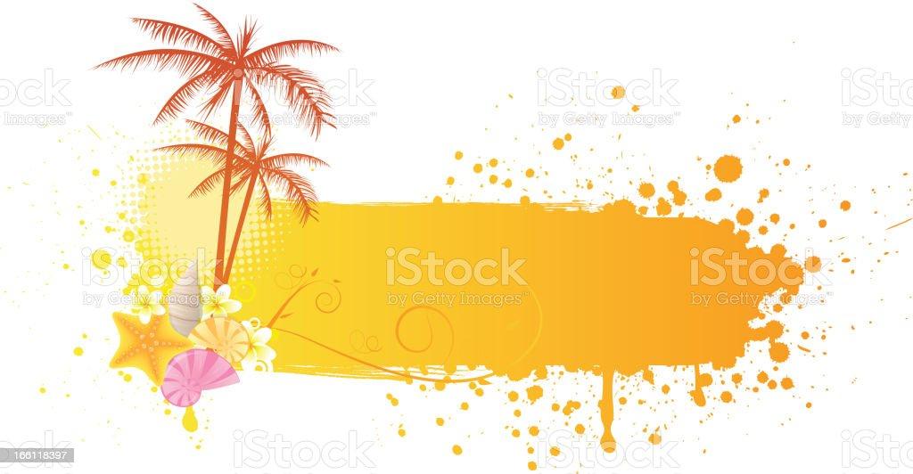 Orange grunge sea banner royalty-free stock vector art