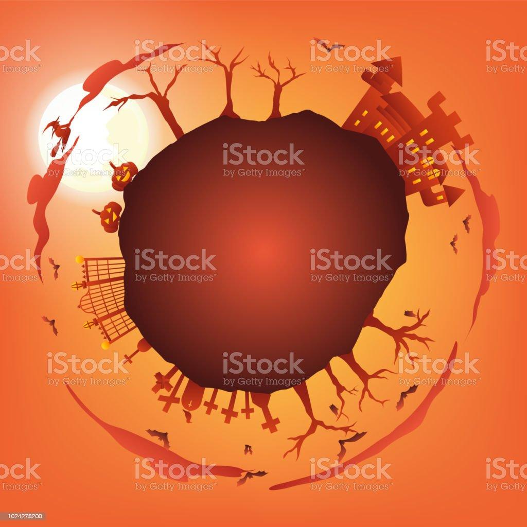 orange halloween partie cercle gradient salutation – cliparts