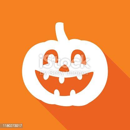istock Orange Halloween Pumpkin Icon 15 1180273017