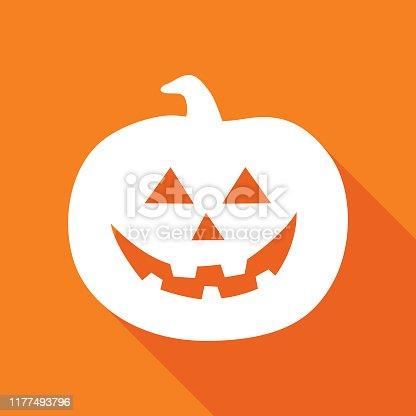 istock Orange Halloween Pumpkin Icon 1177493796