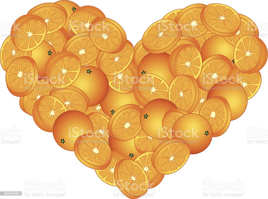 Orange Heart Shaped royalty-free orange heart shaped stock vector art & more images of clip art