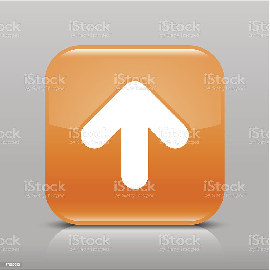 Orange icon arrow sign glossy square web button royalty-free orange icon arrow sign glossy square web button stock vector art & more images of application form
