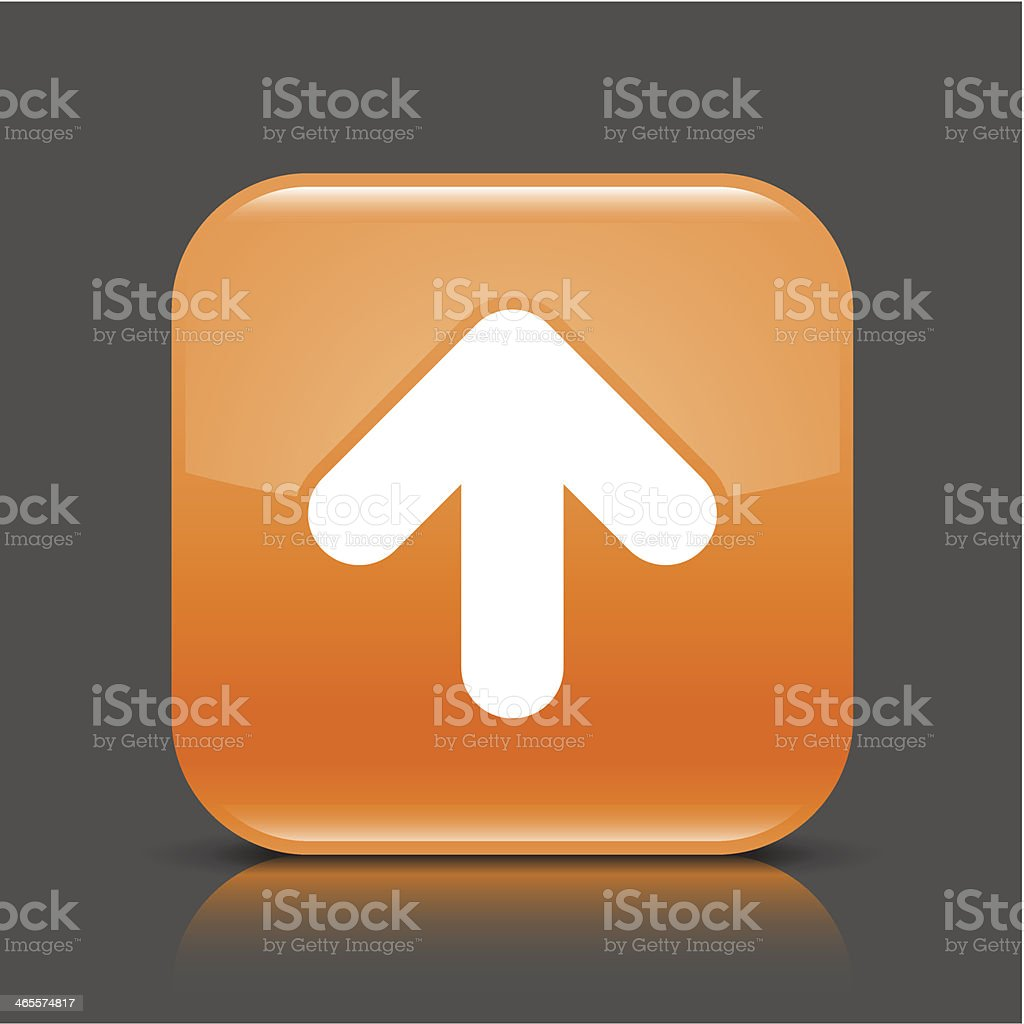 Orange icon arrow upload sign glossy square web button royalty-free orange icon arrow upload sign glossy square web button stock vector art & more images of application form