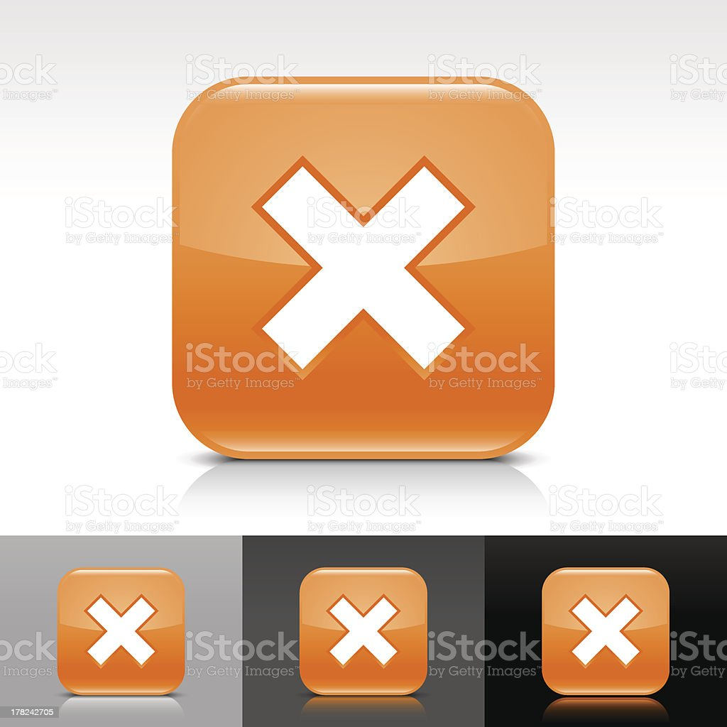 Orange icon delete sign glossy rounded square web button royalty-free orange icon delete sign glossy rounded square web button stock vector art & more images of application form