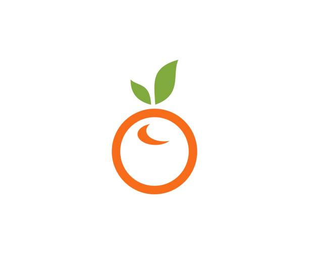 Orangefarbene Ikone – Vektorgrafik