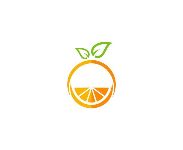 bildbanksillustrationer, clip art samt tecknat material och ikoner med orange ikon - apelsin