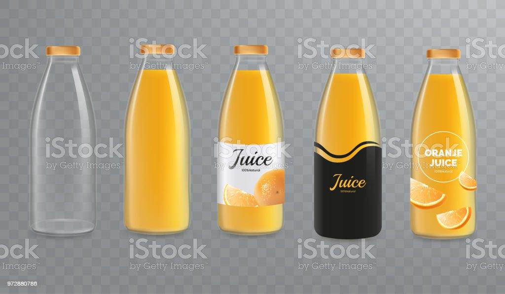 orange juice bottle mockup vector glass bottle mock up isolated on