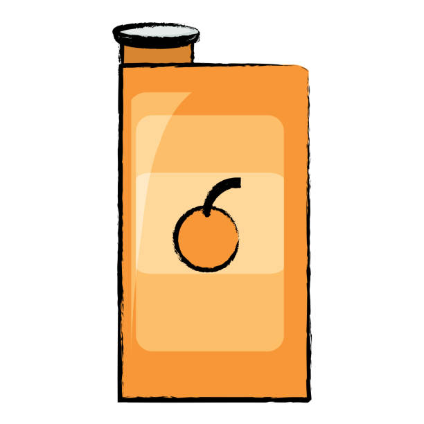Orange Juice Carton Illustrations, Royalty-Free Vector ...