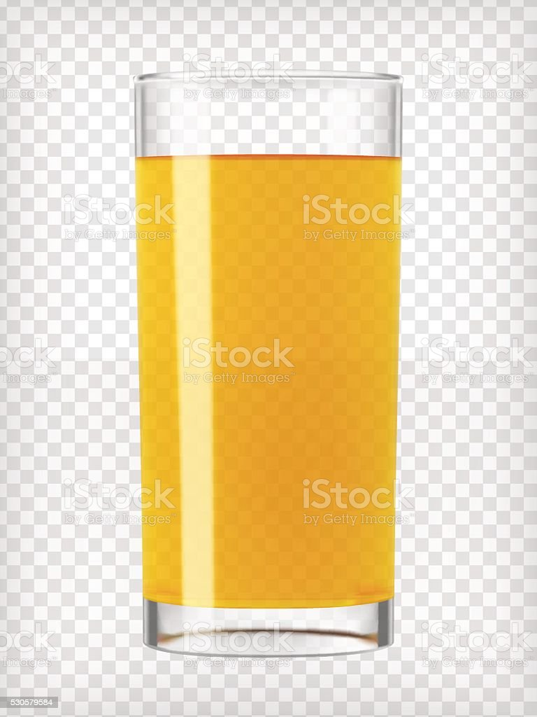Orange Juice in a Glass vector art illustration
