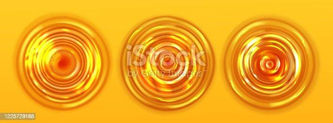 858282944 istock photo Orange juice or beer ripple top view, wavy texture 1225729165