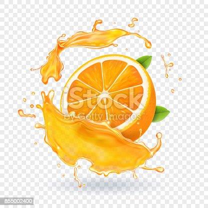 Orange Fruit Vector Orange Juice Sp...