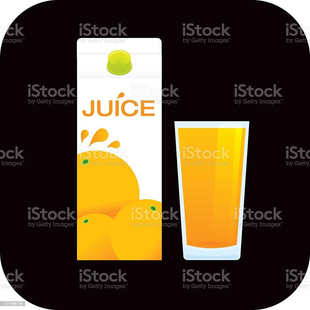 Orange Orangensaft – Vektorgrafik