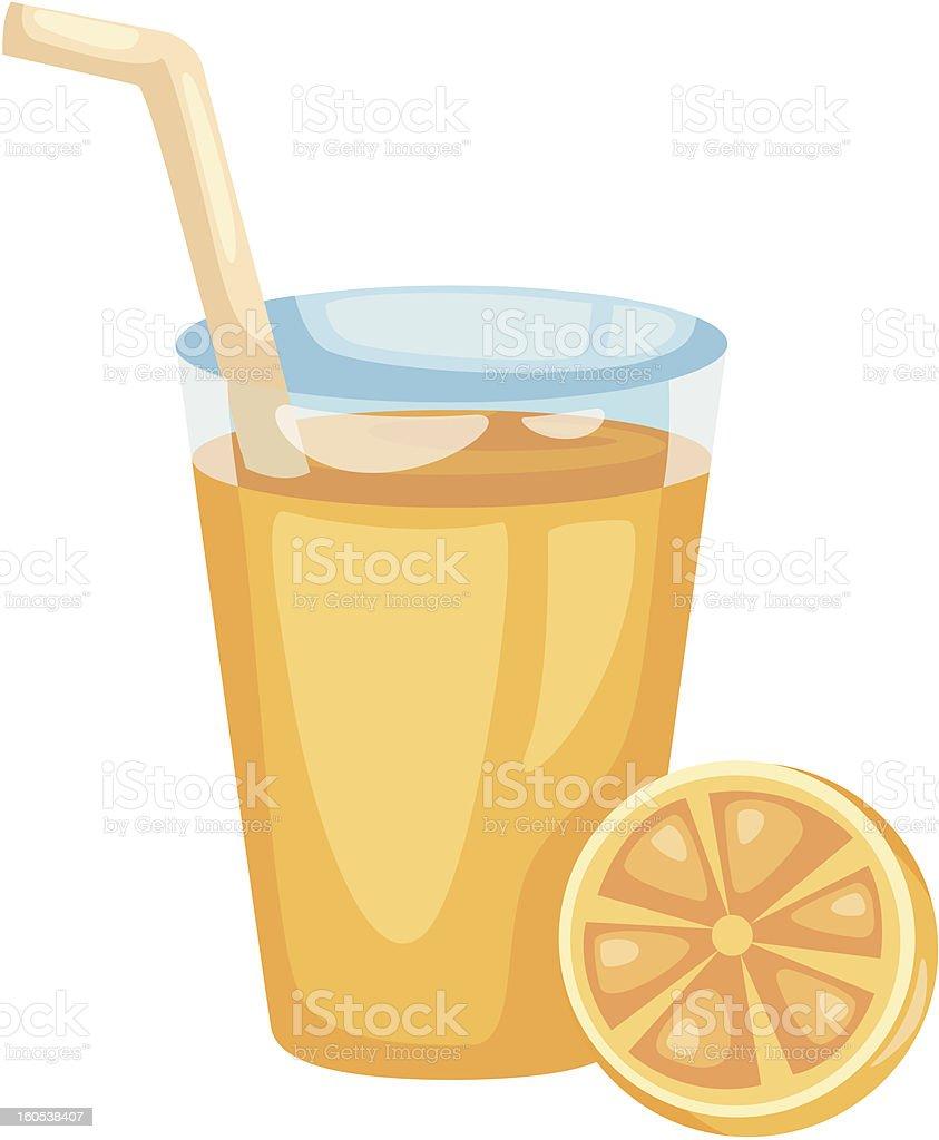 Orange juice royalty-free stock vector art